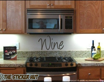 Wine Vinyl - Vinyl Lettering - Kitchen Decor - Wine Decor - Wall Words - Decals Stickers - Lettering Kitchen Home Decor Graphics