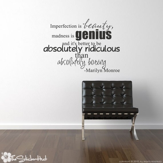 Short Marilyn Monroe Quotes: Imperfection Is Beauty Marilyn Monroe Famous Quote Saying