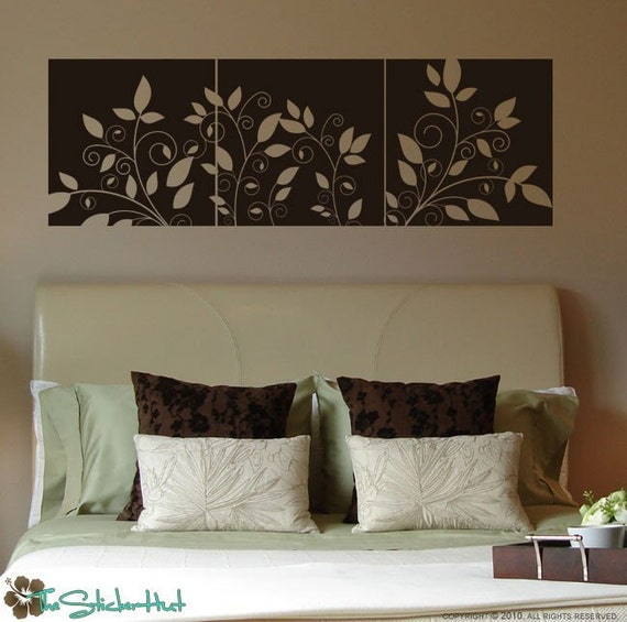 Items Similar To Whimsical Branch Panels Bedroom Decor