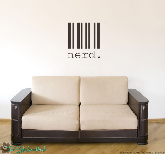 Items Similar To Nerd Barcode Vinyl Lettering Wall