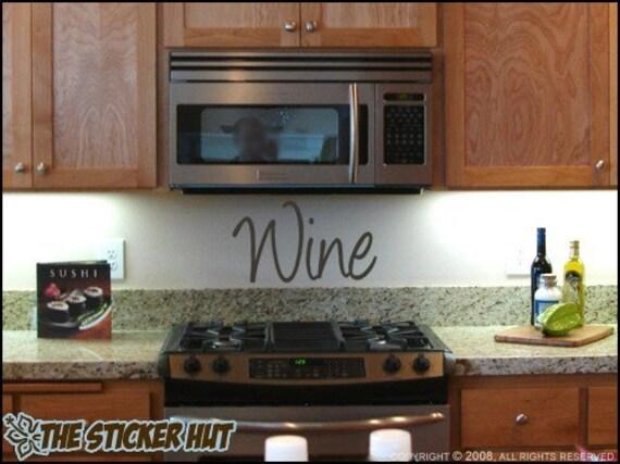 Wine Vinyl - Vinyl Lettering - Kitchen Decor - Wine Decor - Wall Words - Decals Stickers - Lettering Kitchen Home Decor Graphics