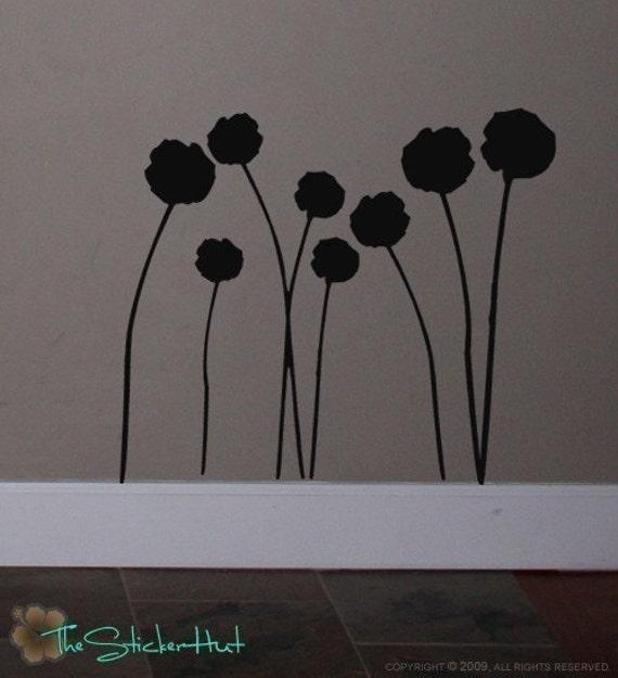 Flower Pom Pom Sticky Vinyl Wall Stickers Decals Graphics