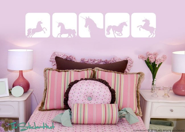 Unicorn Horse Squares Girls Toddler Infant Room By