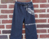 led zeppelin upcycled / recycled shorTEEs kung-fu pants 3t