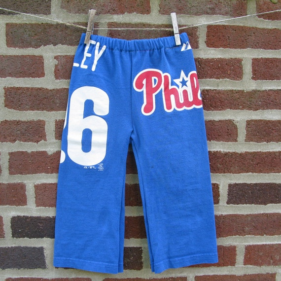 phillies utley upcycled / recycled shorTEEs kung-fu pants 2t