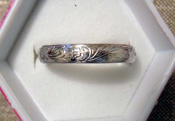 Solid Sterling Silver Floral Bands Buy One Get One Free