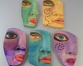 Polymer Clay Painted Faces Reserved for Wendy