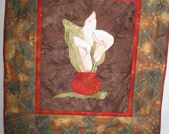 Calla Lillies Little Quilted Picture