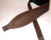 Coffee Bean Brown Leather Rifle Sling Padded