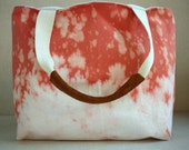 persimmon hand dyed tote