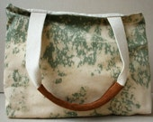 olive green hand dyed canvas tote