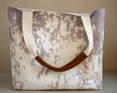 RESERVED LISTING: LAURA gray hand dyed canvas tote