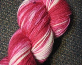 Old Fashioned Taffy (Pink) -- Falkland Merino Sock -- Sprinkle Gradients -- Fingering Weight