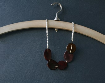 Slices of Brown Tagua Nut necklace