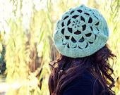 PDF Crochet Pattern - Flower Top Tam