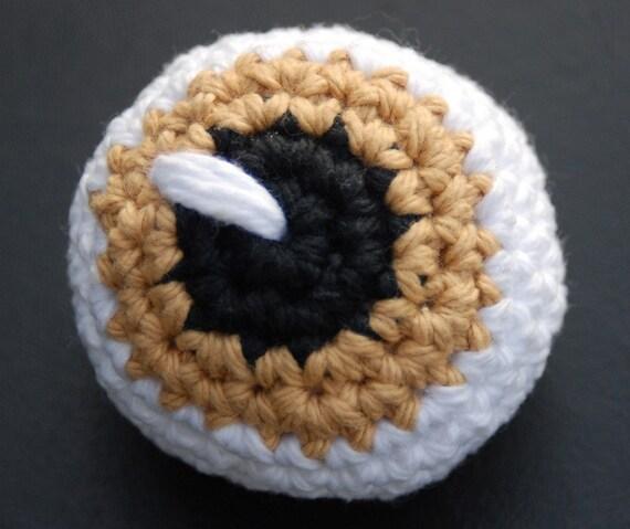 Crochet Catnip Eyeball,  Twilight Inspired