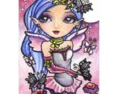 Black Butterflies signed open edition ACEO print