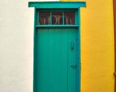 Architecture photography, Green Door photo - Fine Art Photography, Door Photo - 8x12 - Photograph