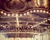 Carnival Photography Carousel Photo Merry Go Round blue brown teal shabby chic copper whimsical print print - Another Dream 8x8