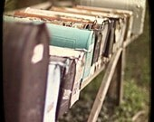 Teal Mailbox - Fine Art Photograph - BOGO Sale