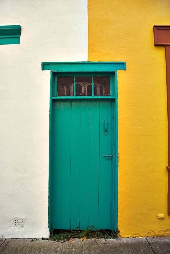 Architecture photography, Green Door photo - Fine Art Photography, Door Photo - 8x12 - Photograph