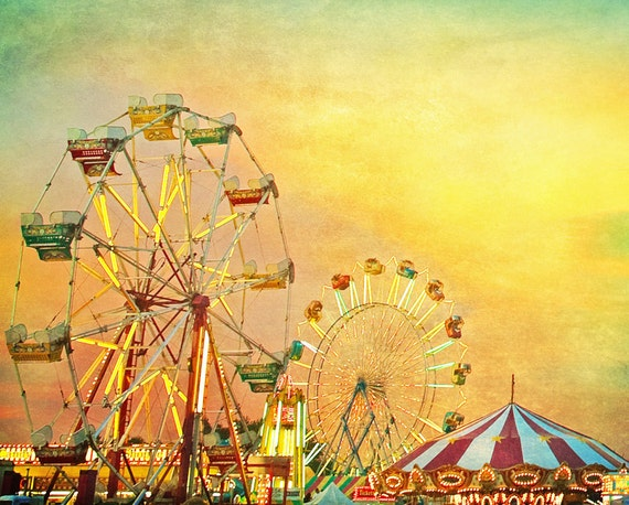 Carnival photography kids room art, nursery art for kids room, carnival prints, Ferris wheel, carousel print, nursery decor circus art