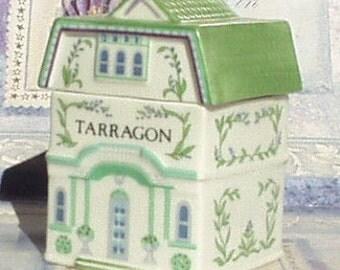 Victorian House - Lenox Porcelain Tarragon Village Spice Jar