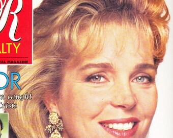 Royalty Magazine October 1990 - Queen Noor Cover