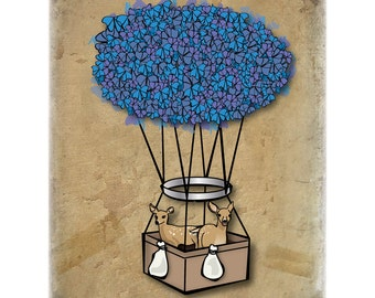 butterfly balloon 8x10 limited edition print
