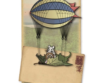 mouse takes a vacation 8x10 limited art print