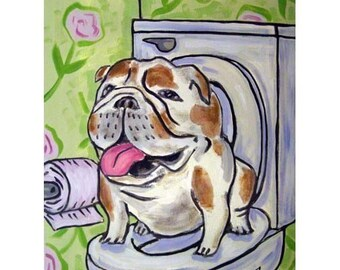 Bulldog, dog, art, PRINT, poster, gift, bulldog print, dog art, 11x14