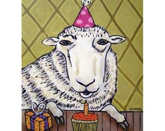 Sheep Birthday Art Print