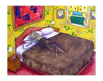 Grasshopper Taking a Nap Insect Art Print
