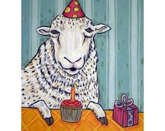 Sheep ram Birthday Animal Art print