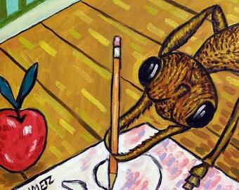 Bulldog Ant Artist Insect Art Tile Coaster gift JSCHMETZ pop art modern abstract folk folk