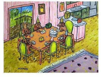 dachshund art - Dachshund PRINT -  dog art, PRINT, poster, gift , modern, folk, birthday, dog, dog art, dog print - dachshund gifts