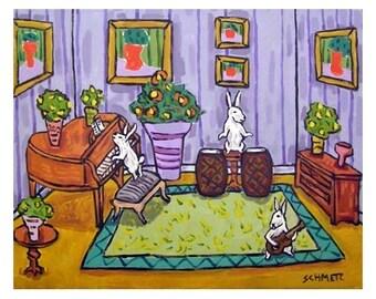 The Bunny Rabbit Trio Animal Art Print