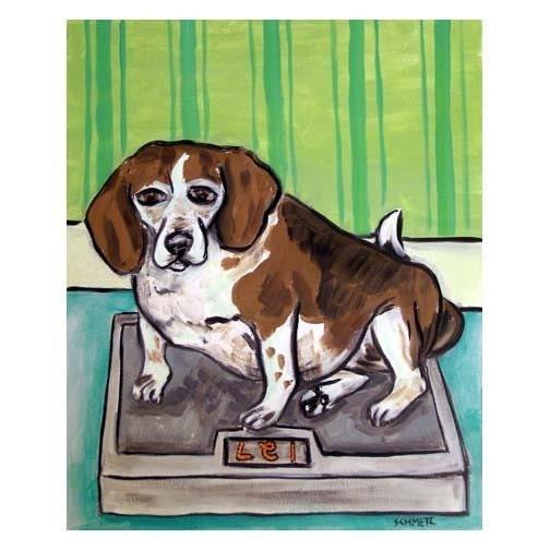 A Beagles Diet Beagle on a Die...