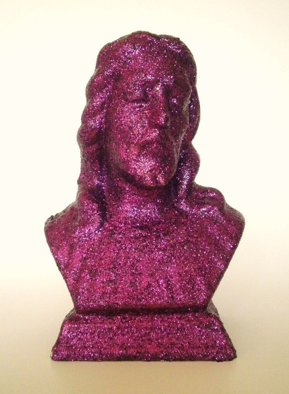 Https Etsy Com Listing 93285236 Purple Glitter Jesus Bust Upcycled Home