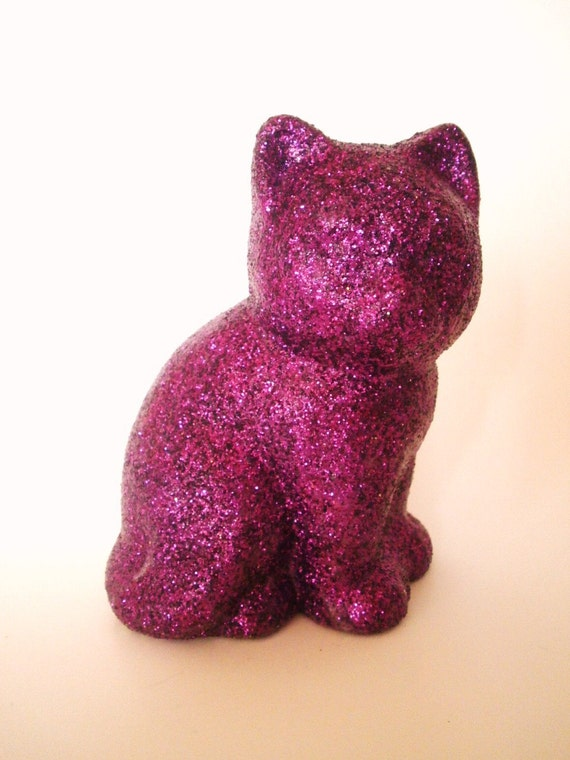 Https Www Etsy Com Listing 94276797 Sparkly Glitter Cat Home Decor Figurine