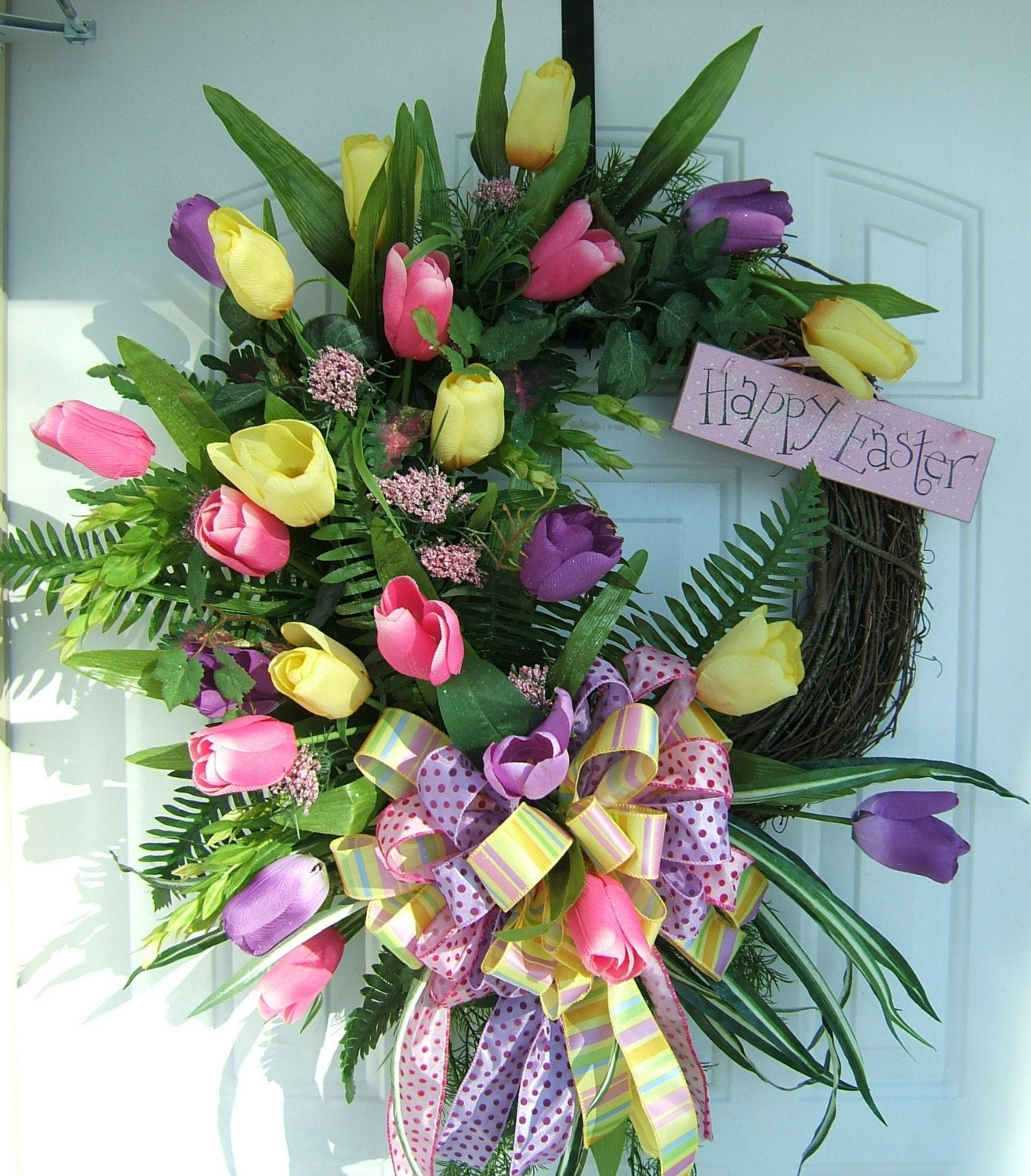 Beautiful Spring Floral Easter Wreath