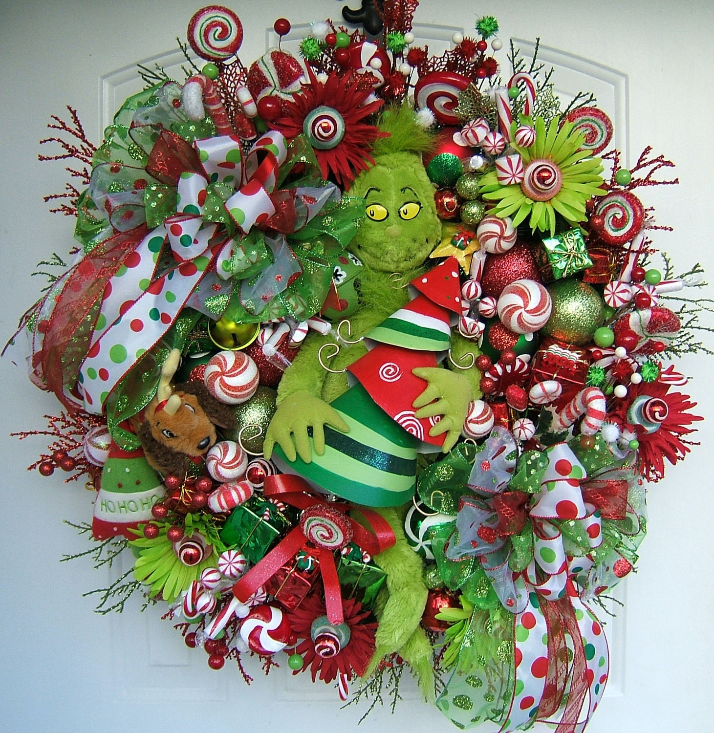 Grinch Christmas wreath Grinch stole Christmas Grinch and