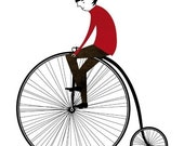 The cyclist print