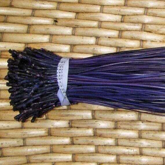 Dyed Florida Long Leaf Pine Needles for Basket Weaving or Gourd Crafts - PURPLE