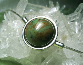GREEN OPAL Stone Sphere Necklace
