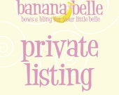 PRIVATE LISTING for PhotsbyWhitney