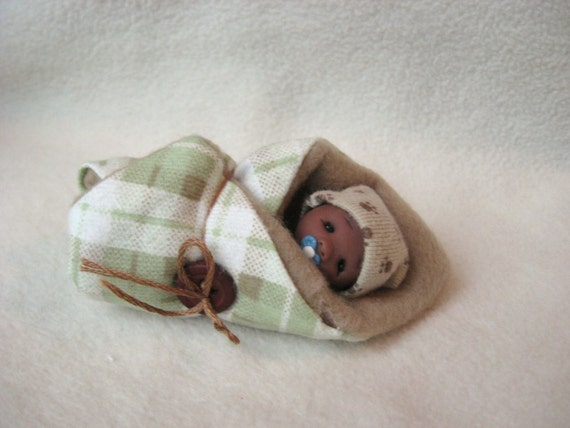 Snuggly Baby Daniel a Hand Sculpted Bundle Baby