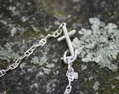 Sterling Anchor Clasp Bracelet
