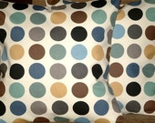2 New 16 inchTeal,Duck Egg Blue,Brown,Grey,Black,Cream Spots Print Designer Retro,Pillow Covers,Throw Pillow,NEW FABRIC