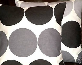 "2 16"" Contemporary Modern Black Spot Designer Retro Funky Cushion Covers,Pillowcases,Pillow Covers,Pillow"